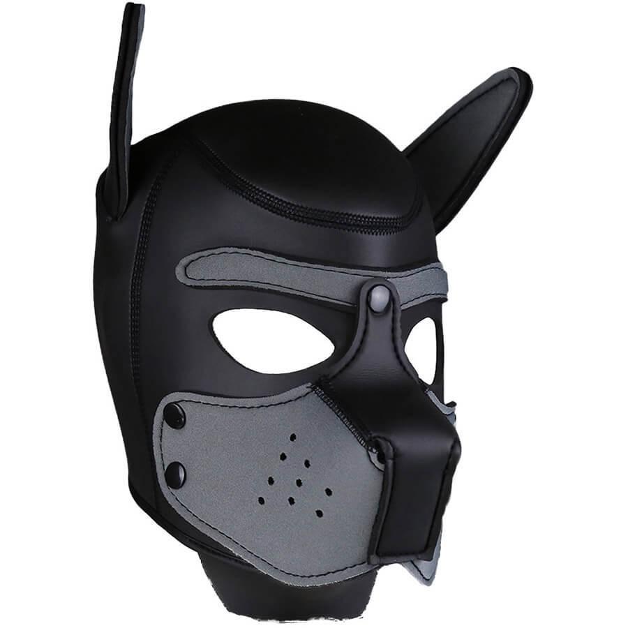 Neoprene Puppy Hood Grey-Black