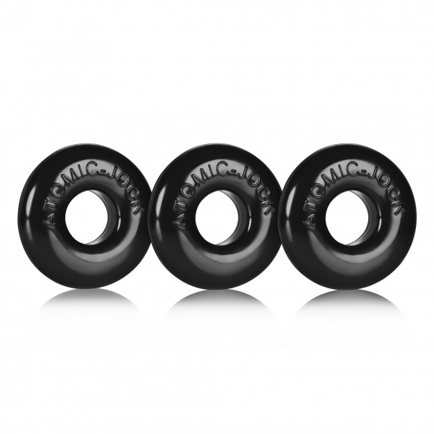Oxballs Ringer Cock Rings 3-Pack Black
