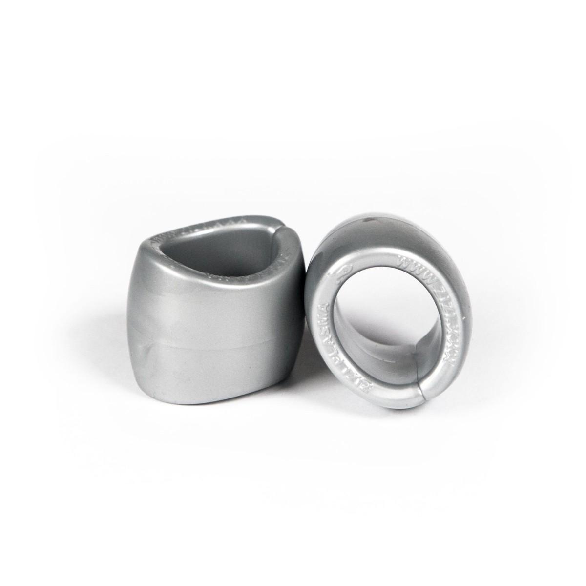 Zizi Plasma Cock Ring & Ball Stretcher 2 pcs Silver