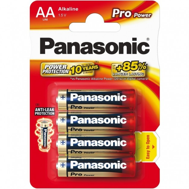 Panasonic AA LR6 1.5 V Pro Power Batteries