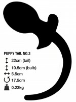 M&K Puppy Tail No. 3 Butt Plug