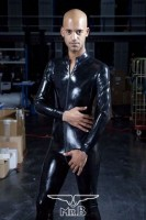 Mister B Rubber Full Body Suit with Zip