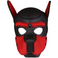 Neoprene Puppy Hood Red-Black
