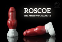 Weredog Roscoe Dog Dildo Crimson/White Large