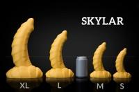 Weredog Skylar Dragon Dildo Cobalt/White Extra Large