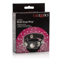 CalExotics Leather Multi-Snap Cock Ring