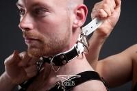 Mister B Slave Collar 4 D-Rings Red