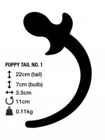 M&K Puppy Tail No. 1 Butt Plug