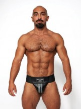 Mister B Leather Premium Jockstrap Black-Grey