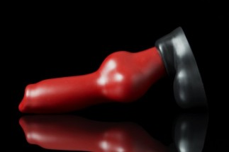 Weredog Rutt Dog Dildo Crimson/Jet Medium