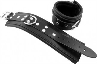 Mister B Leather Ankle Restraints with Padding