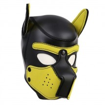 Neoprene Puppy Hood Yellow-Black