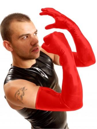 M&K Shoulder Rubber Gloves Red