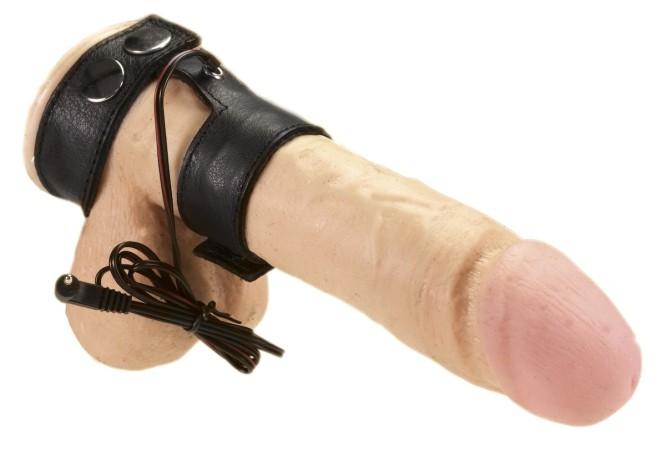 Rimba Electro Sex Leather Penis Straps